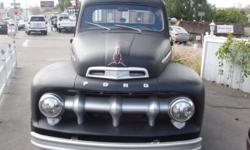 Classic 1952 Ford F1 Truck. 239 flathead engine, 3 speed manual column shift. Has new gages, electric fan, 12 volt conversion, new wiring harness, fuse box, weather stripping on doors and new one piec