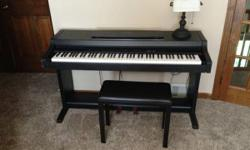 Yamaha Digital Piano Clavinova CLP 311 Excellent shape- works wonderful. No concerns. Bench consisted of Full size keyboard, weighted secrets. Sustaining pedal and soft pedal. Volume, record/playback,