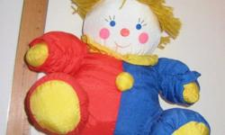 Clown 10 Sitting Asking $5.00 OBO Everyone loves a clown with a heart...especially with his mop of curly hair Here is a vintage plush stuffed toy clown. It appears to be hand made and is from the 1990