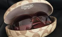 Brand new pair of Coach sunglasses that have never been worn. Comes with the Case it was bought it a lens cleaner.