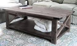 Type: Living RoomType: SetsBeautiful rustic coffee table sets.hand gained and built how u want them ... made to order.add a matching entry way table for an extra $150.00.