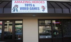 Amazing Heroes: Toys & Video Games http://www.amazingheroestoys.com Store hours are 11:00 to 6:00 Monday-Friday' 11:00 to 5:00 Saturday and 11:00 to 4:00 on Sunday. We have an extensive inventory of t