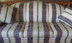 Beautiful brocade couch just in time for spring redecorating. Taupe with green, maroon and blue stripes. Like new condition. Would like to sell ASAP. Cash only. West Indianapolis right off Raceway. Yo