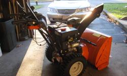 7 horse power 24 inch auger carb rebuilt tire chains still needs a little tinkering bought this last year for what i am asking for it-NOT running, i sent this out last spring to be repaired and the ca