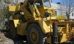 Crane - Grove RT-520 Crane. Make: Grove. Design: RT-520. Serial #: 51437. Hours: 8100. Engine: Detroit Diesel. Model: 4-53N. Net Power: 115 HP @ 2800 rpm. Max Torque: 246 pound ft @ 1800 rpm. Displace