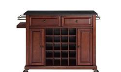 Wine lovers will entertain in style with Crosley?s Kitchen Wine Cart. Whether you?re a connoisseur of fine wines or simply a casual fan, Crosley?s Kitchen Wine Cart offers the utmost in entertaining c