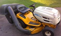 CUB CADET 1600 RIDING LAWN MOWER COMES WITH THE GRASS CATCHER NICE MACHINE WITH NEWER MOTOR A must have for any residence, farmer, rancher, outdoor business ect................. $ 1400.00 OPEN TO TRAD