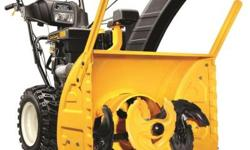 Introducing the revolutionary new Cub Cadet 3X three-stage snow thrower. This industry exclusive cuts through tough packed snow and ice like no other machine available today. The 3X?s unique high-spee