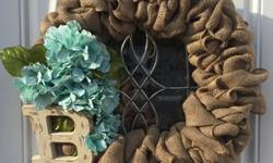 Custom burlap wreaths for sale! The perfect addition to anyone's door. My wreaths range from $25-$60 depending on what you would like and if shipping is required. Visit my site at:https://the-burlap-l