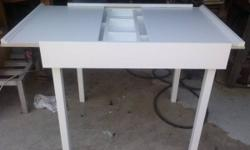 """GREAT CHRISTMAS GIFT!!!! This is a CUSTOM BUILT Table that is designed to be used as a Lego playing area.  It is solid pine with birch plywood sliding top and bottom. NOT PLYWOOD. It comes with 2 10"""""""