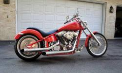 2003 Custome Soft Tail - $25000 (Glen Burnie Md.) 2003 CUSTOM BUILT PRO STREET SOFT TAIL CHOPPER *********** ONE OF A KIND FOR SALE OR TRADE ************** I WILL CONSIDER TRADE FOR CLASSIC CAR OR HOT