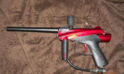 I have a Cybrid Stryker Semi Car Paintball gun its in fantastic problem been used 2 times likewise comes with 2 containers of red frozen paint spheres no scrapes. Does not included Co2 or a receptacle