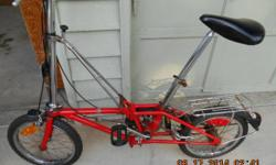 Hon folding bicycle that my father had in the 1970's that went on the motorhome trips around the country. It worked excellent for him. It requires a bit even more cleaning and a tune up however appear