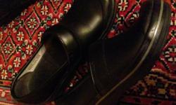 "Practically New. They were bought for me, worn only once but to small. I couldn't even wear them a full day. They are adorable and very stylish. DANSKO Women's BLACK ""VOLLEY BOX"" LEATHER PROFESSIONAL"