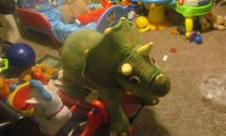 DINOSAUR RIDE ON ITS IN LIKE NEW CONDITION SON seldom used it asking 220 or best offer RETAILS FOR $360 PLUS ... ride on steed is likewise for sale asking 40 or finest offer for that likewise in like