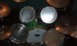OBO.....5pc tamas,6 cymbals,4stands,2 new 14in snare heads,Pearl P-100 TW db kick pedal,ridge rider bell....i only have e-mail at moment leave me ur name and # thanks....also i