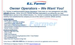 . Owner Operators-- We Want You!  E.L. Planter is finding qualified Owner Operators! Come meet our new management with PRO-DRIVER mindsets. Considering that 1910, E.L. Farmer has actually been devoted