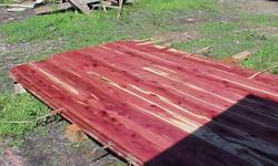 eastern red cedar lumber3/4, 4/4, 8/4 thick8-10 foot longbandsawn, air drying.90-1.20 bdft also cherry on hand270 522 XXXX