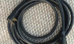 I HAVE A HEAVY DUTY ELECTRIC EXTENTION CORD FOR HOOKING UP THE ELECTRICITY TO A TRAVEL TRAILER--6 FT LONG HAS BEEN CHECKED OUT BY RV SUPPLY SHOP HERE IN DEL RIO...WORKS FINE---NEW IT COSTS $80.00...AS