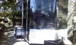 2008 American hauler Night Hawk. 7x16 enclosed trailer.7 ft high ceiling.med. V nose, 80% tires. inside lights,outlets.panel box, 110&220 electric hook up,side door, tandem axel (4 wheels), cabinets a
