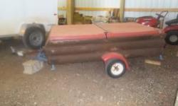 """I have an enclosed trailer for sale. The outside is log wood siding weatherized with deck stain. The outside dimensions of the box is 7' 5"""" long by 4' 5"""" wide. The inside dimensions of the box are 19"""""""