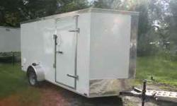 ENCLOSED TRAILER at GREAT PRICING 6x12 only $1799 White; Black $1949 - black includes anodized chrome sides 7x16 only $2799 in White; Black $2949 - black includes anodized chrome sides 8.5x24 only $37
