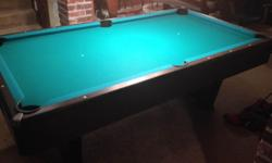 Sears Brandywine III - Slate Pool table, excellent condition - $600 or best offer Rarely used by owner and previous owner Dark wood finish - this will stand out in finished basement, man cave, rec roo