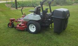 This machine is in awesome condition with approx 1300 hours. It has a Kohler 27HP SP motor. The hydros are very strong. The mower cuts excellent and is very fast and powerful. The machine needs nothin