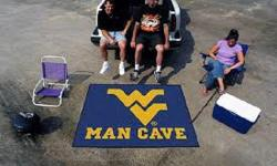FanMats West Virginia University Man Cave All-Star Mat Indoor Outdoor Nylon Mat  Decorate your home, office, or tailgate with area rugs by SPORTS LICENSING SOLUTIONS. Made in U.S.A. 100% nylon c