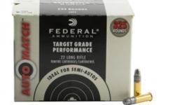 $41 per box------Federal Auto Match .22LR 40gr, High Velocity, Solid Lead Round Nose, 325 Rounds per Box------New---in Sebring. 15 boxes available. Works great in Semi-Autos