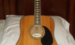 Acoustic Guitar Fender Starcaster Model # 0910105125 6-strings Used very little Like New Only Asking $150 With Gig bag REDUCED to $130