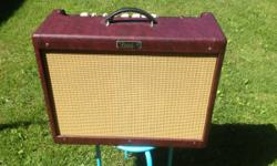 """LIMITED EDITION Wine Red just 70 made! Fender Hot Rod Deluxe III Wine Red Tolex/vinyl covered with Wheat color grill cloth 2013 Model (bought brand-new in 2014). 40 watt Groove Tube with 12"""" Celestian"""