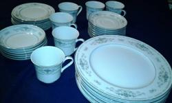 """Fine porcelain china dishes---""""Diane"""".      Collection. Excellent condition,  33 count for. $35. ---6 coffee cups ---8 coffee saucers ---6 small bowls ---7 dessert or bread/butter plates ---6 dinner p"""