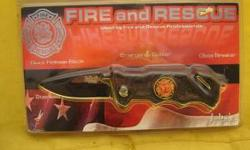 FIRE/RESCUE KNIFE ,NEW IN THE BOX. QUICK RELEASE BLADE ,EMERGENCY CUTTER, GLASS BREAKER,STAINLESS TITANIUM DIAMOND GRIP HANDLE BY JABES CUTLERY. CELL 321-223-7738 // //]]> Location: ASHEVILLE