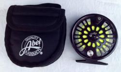 Abel Super 4 Large Arbor Reel $300.00 New Condition Factory Abel bag Excellent Drag Color pewter ABEL TR 2 Fly Reel and 2 Extra Spools $295.00 New Condition Fits a 3wt to 5wt rods Excellent Cam Drag A