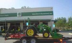 John Deere Tractor Package 3032E - 32 Hp Diesel Loader, 5' Rotary Cutter (Bush Hog), 5' Box Blade and 6.5' x 18' Double axle Dovetail Trailer $19999 3005 - 27 Hp Diesel Engine with same Implements and