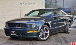 2008 Ford Mustang Bullitt Coupe in Highland Green with Dark Charcoal Leather Interior. 4.6L 315hp/325ft-lb V8 Engine. 5-Speed Manual Trans. 48,080 miles. The Bullitt Package was a $3,310 factory optio