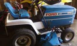 For Sale: Ford Riding Lawn Mower....Has a 12 horse koler engine blown. Lawn Mower is all tooken apart right now. Has Jacob tube frame. Has hydrostatic transmission. Asking $250.00 My phone number is 6