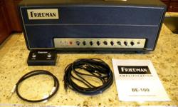 Type: Guitars Type: Electric Friedman BE-100 100 Watt Head. This is the latest version from Friedman that offers the FAT, C45, SAT switches and Series Effects Loop with Level Return. I am the original