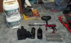 I am selling all of my paintball gear due to the fact that I don't play and have no use for it ... I have a spyder imagine select marker which will shoot up to 14 balls per second and has 3 firing mod