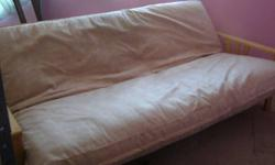 I have a full size futon for sale, it is about 2 years old and has hardly been used.  It has only ever been used for guests.  The mattress measures 4 1/2 ft. wide  X  6 ft. long.  There are no rips, n