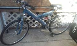 """1999 Gary Fisher Joshua F2 Mountain Bike for sale. Aluminum frame insanely light approximately 28.0 lbs, Front and Rear suspension, 26"""" Tires. With amazing spider-webbed blue and black custom paint jo"""