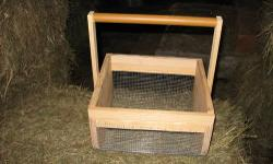 Gathering/washing Basket. Model #1313.This basket is ideal for gathering Mushrooms, Berries, Fruit, Veggies, and then being able to hose them off (screened bottom) before you take them inside. Basket