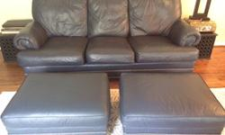 """arge Couch, Chair, and Two ottomans. So comfortable! Very good condition. Cash only.Couch- $50090"""" wide, 45"""" deep, and 38"""" tall2 Ottomans - $50 each32"""" x 25"""" and 14"""" tallChair - $15036"""" tall, 46"""" wide"""