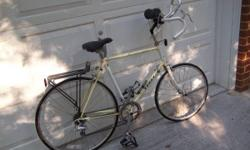 Here is an unusual bike. I have been on CL rebuilding and offering bikes for 6 years and this is the very first Terry I have actually seen. Google Georgena Terry. She is the inventor of road bikes for