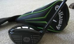 2013 Callaway RAZR FIT Xtreme Driver. 9.5 * Adjustable Head. Moveable sole weights to promote neutral or draw sphere air travel. Routine Flex ALDILA 65g graphite shaft. Matching Callaway RAZR Head Cov