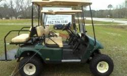 "Come to Thompson Repair Service for all your golf cart needs - carts, parts, accessories, and repair! 2007 EZGO PDS GOLF CART w/ Speed Chip -New Batteries -New 6"" Lift Kit -New 22x11x10 Sahara Classic"