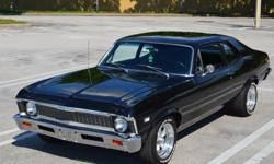 SHOW QUALITY, GORGEOUS TUXEDO BLACK PAINT, STOCK 350/250HP, T10 4-SPEED, 352 DETAILED PICS & HD VIDEO. Owners previous to me did a complete ground up restoration on my gorgeous 1968 Nova about 6 years