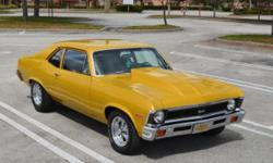 FRAME OFF, SHOW QUALITY, EVERYTHING DONE, CRATE 350, 4-SPEED, GORGEOUS PPG PAINT, 260 DETAILED PICS & HD VIDEO. Owners previous to me did a complete ground up restoration on my gorgeous 1972 Nova abou