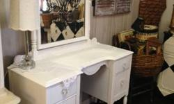 This gorgeous antique vanity can go from French to shoddy stylish to funky relying on the chair and devices you include. You could go with animal prints, sweet lace, or little french county. It promis